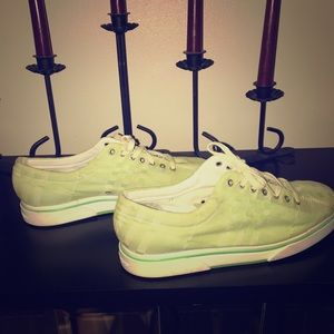 Burberry pale green sneakers